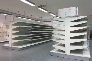 polcrendszerek áruházakba és boltokba